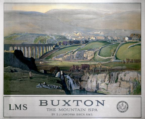 buxton english railway travel art poster print england the