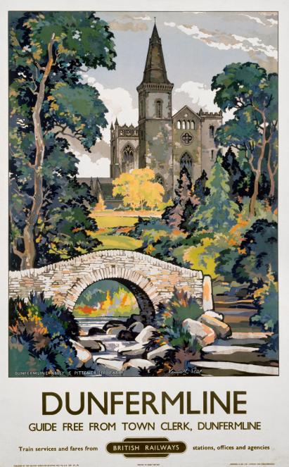 Dunfermline Scotland Vintage Scottish Railway Travel