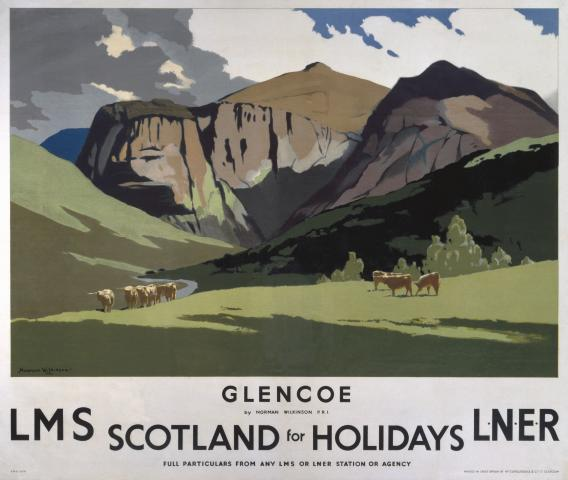 Glencoe By Norman Wilkinson for LMS and LNER Railways ...