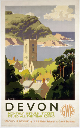 Glorious Devon Gwr Vintage Travel Poster By Alker Tripp