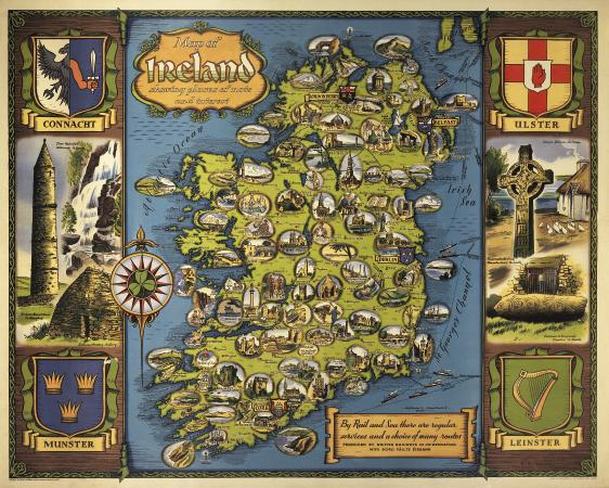Ireland Map Travel – Ireland Tourist Attractions Map