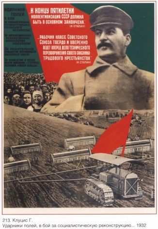 Russian Vintage Poster Stalin S 5 Year Plan