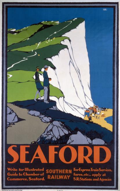 Seaford Sussex Vintage Southern Railway Travel Poster By Leslie Carr