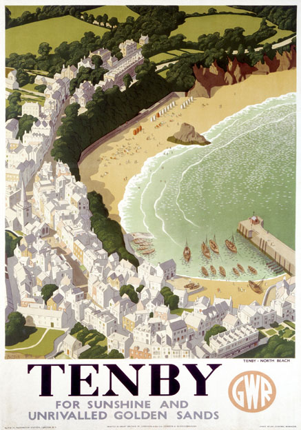 Tenby Pembrokeshire. GWR Vintage Travel poster by Ronald ...