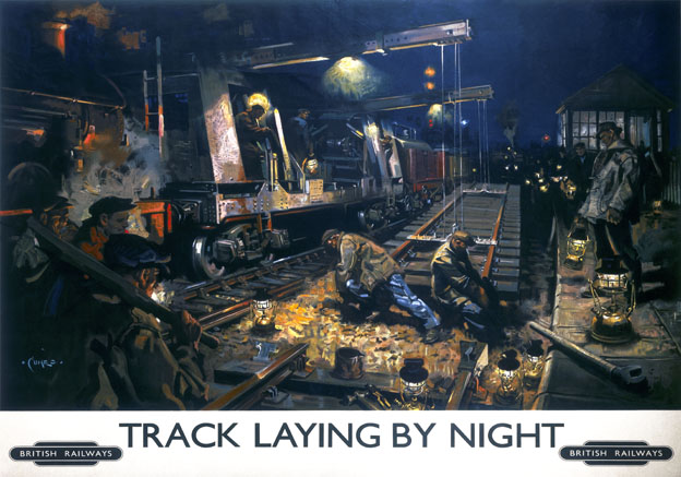 Apologise, british railways track laying by night sorry, that