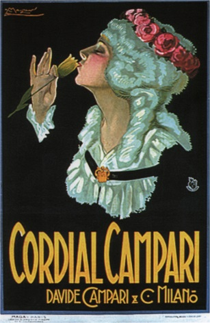 Vintage Cordial Campari Davide Campari Advertising Poster