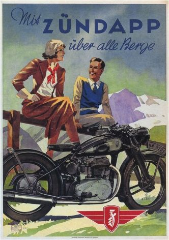 Vintage Ducth Motorcycle Poster Zundapp