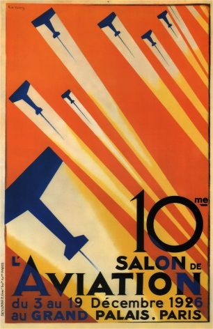 Vintage French Poster 10th Paris Air Show 1926