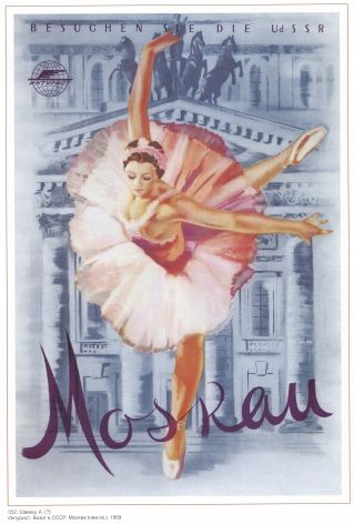 Vintage Russian Poster Moscow Ballet