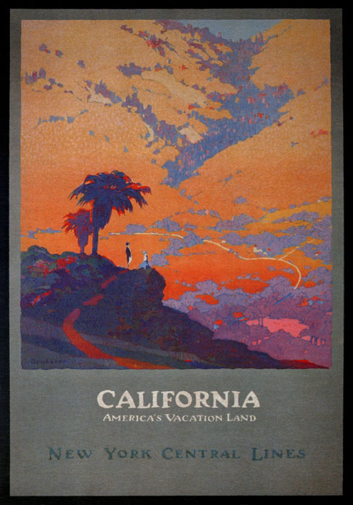 Vintage Travel Poster California New York Central Lines