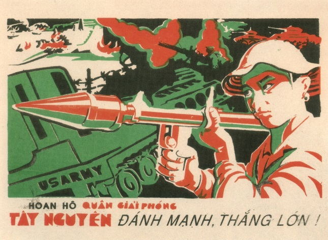 Vintage Vietnam Propaganda Poster Defeat The Us Army