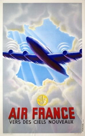 Air France poster -  1950