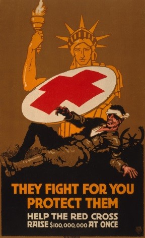 "American WW1 post ""They fight for you protect them"""