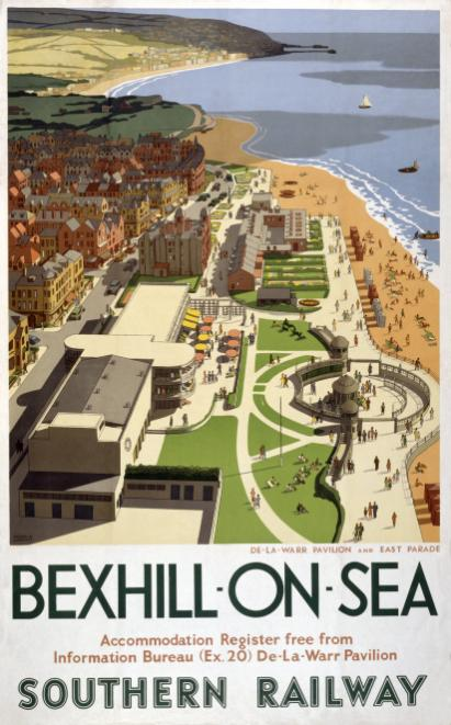 Bexhill On Sea Sussex Vintage Southern Railway Travel