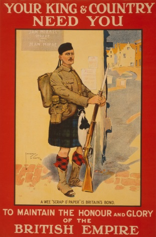 British enlisting poster, Your king & country need you