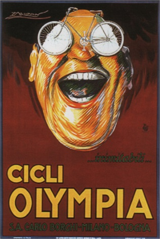 Cicli Olympia. Vintage Bike sports Advertisement.