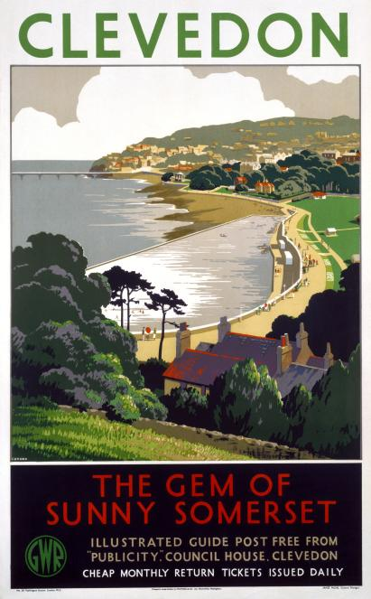 Clevedon, Somerset, England, Great Western Railway Travel Poster Print