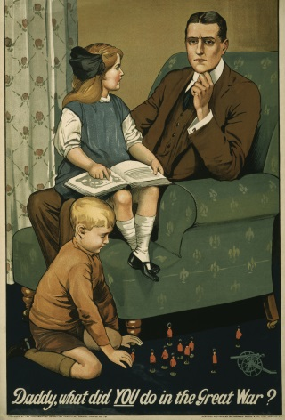 Daddy, what did you do in the great war? / designed by Johnson, Riddle & Co., Ltd., London, S.E.