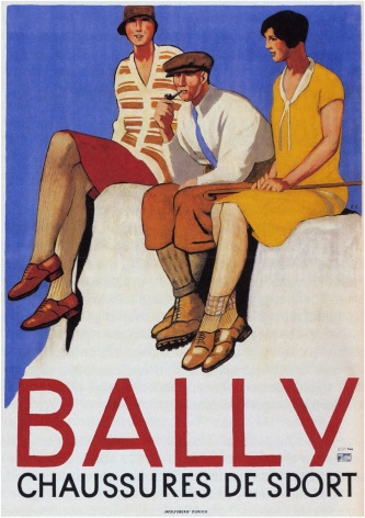 FRENCH ADVERTISING POSTER - BALLY CHAUSSURES DE SPORT