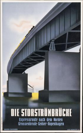 German Railway's Travel Art Poster, Germany