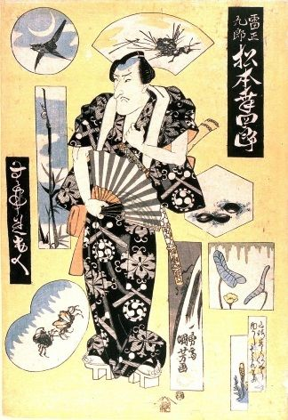 Japanese Samurai warrior poster - Traditional Kimono