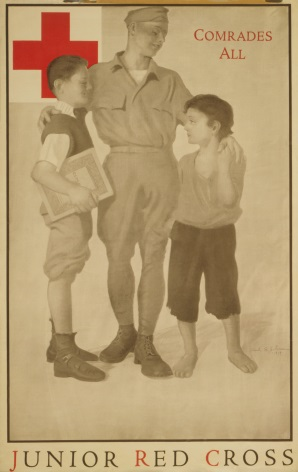 Junior Red Cross Comrades all. Vintage WW1 Poster