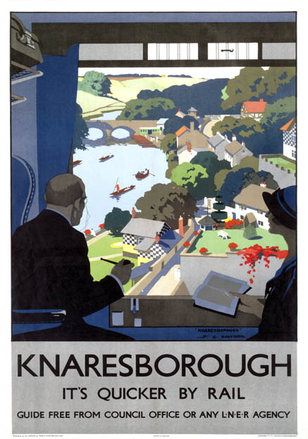 Knaresborough, Harrogate, Yorkshire. LNER Vintage Travel Poster by Henry George Gawthorn