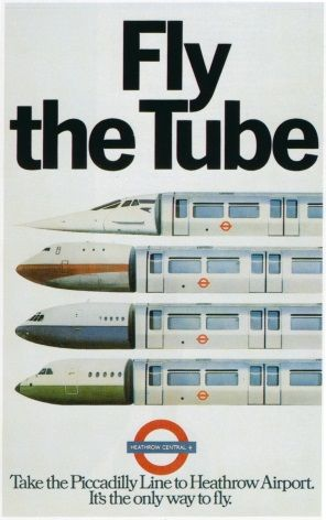 London underground poster - Fly the tube