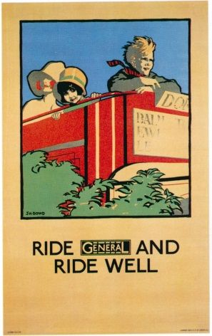 London underground poster - Ride general and ride well