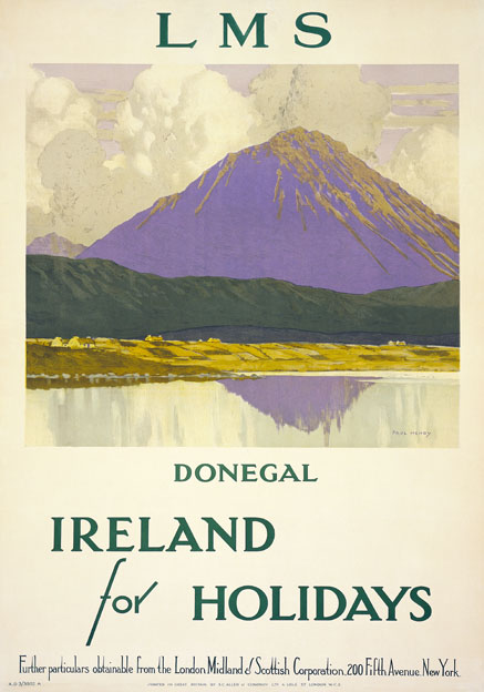 Mount Errigal, Co Donegal, Ireland for Holidays. LMS Vintage Travel Poster by Paul Henry