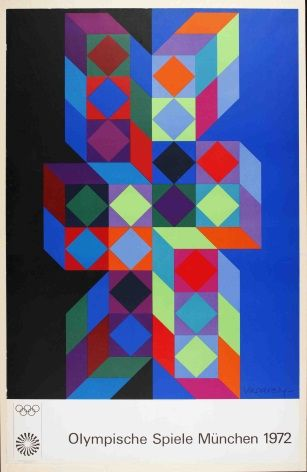 Munich Olympic Games poster - 1972