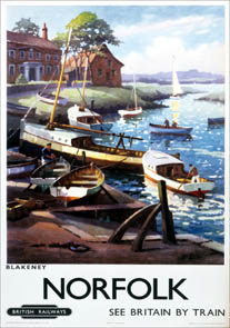 Norfolk, Blakeney. BR (ER) Vintage Travel Poster by George Ayling. 1960, British Railways