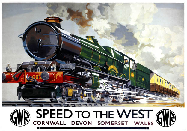 Speed To The West Gwr Vintage Travel Poster By Charles Mayo