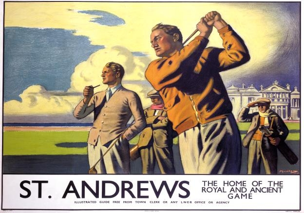 St Andrews Golfing Vintage Travel Poster Print, Scotland, Golf