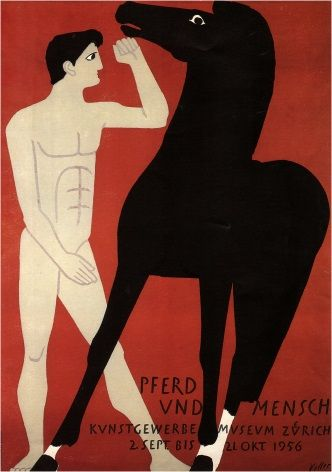 Swiss art exhibition - Horse and Man Exhibit (1956)