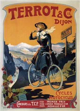 Terrot & Co bicycle advertisement poster