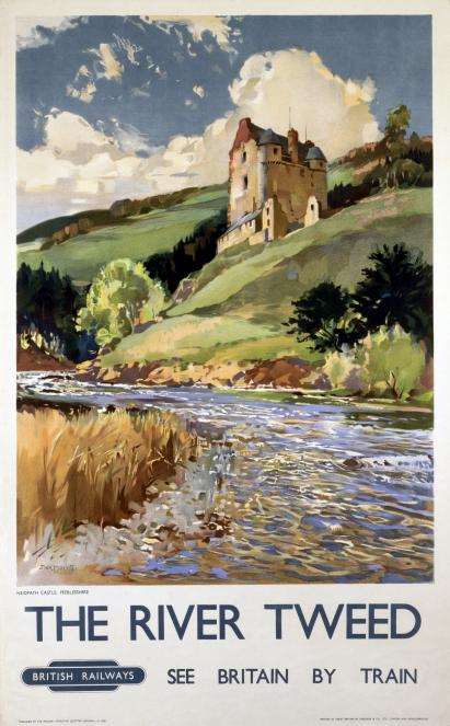 the river tweed and neidpath castle english railway travel