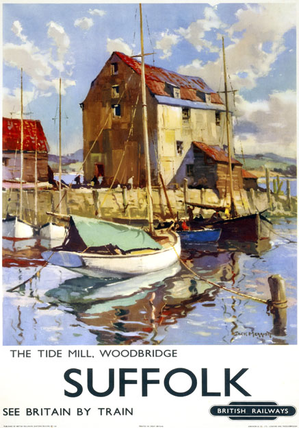 an artists view of the tide mill at woodbridge