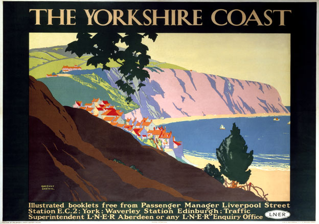 The Yorkshire Coast. LNER Vintage Travel Poster by Gregory F Brown