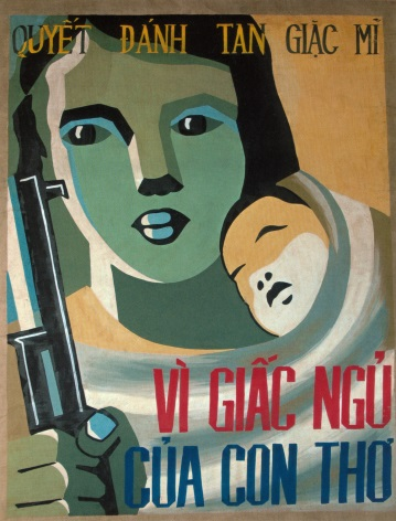 Vietnam Propaganda Poster, Woman and Child