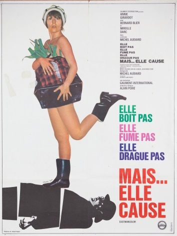 Vinatge French movie poster - Mais Elle Cause