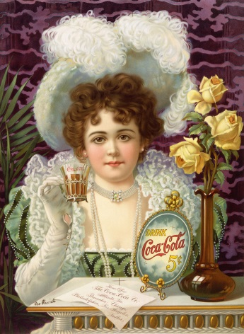 Vintage advertisement, Coca-cola-5cents-1900