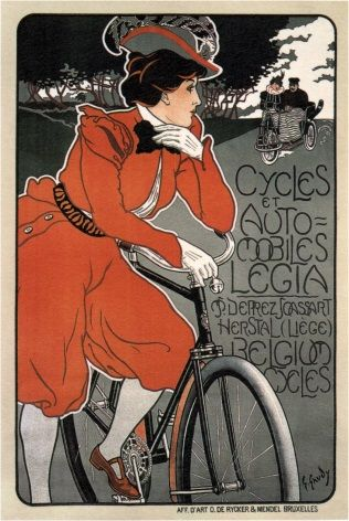 Vintage Belgian bicycle advertisment poster - Liege