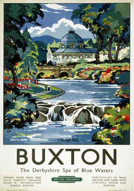 Vintage Buxton Pavilion Gardens By Keneth Steel English