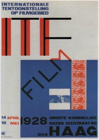 Vintage Dutch poster - Exhibition poster (1928)
