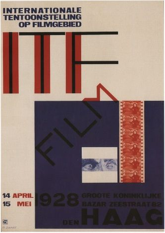 Vintage Dutch poster - International Exhbition of Cinema (1928)