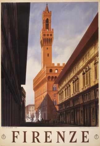 Vintage Firenze Travel Poster