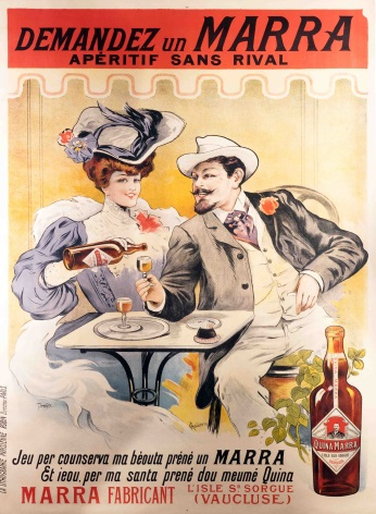 Vintage French alcohol advertisement