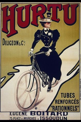 Vintage French cycling poster - Hurtu