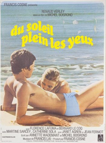 Vintage French movie poster - Du soleil plein les yeux